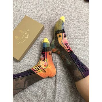 Burberry Logo Technical Knit Socks