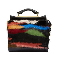 3.1 Phillip Lim Small Ryder Satchel - Multi Colored Fur Bag - ShopBAZAAR