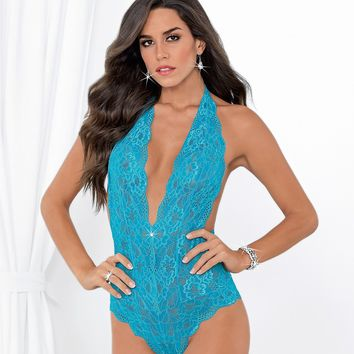 Lace Halter Teddy