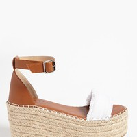 Lemon Drop by Privileged Wedge Espadrille Sandals