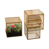 St. Thomas Square Glass Boxes - Set of 3