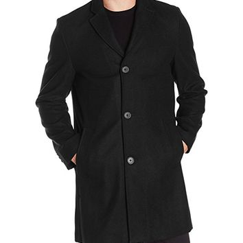 Men's Wool Melton Unfilled Top Coat