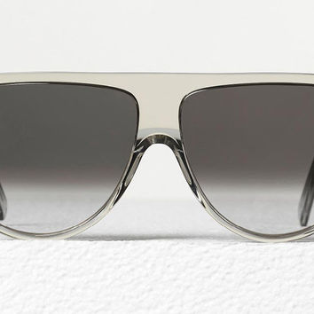Celine - Thin Shadow Transparent Smoke Acetate Sunglasses, Brown Shaded Lenses