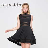 Hollow Sexy Party Sleeveless Gothic Dress Patchwork A-line Mini Casual Goth Dress Black Strapless Dress
