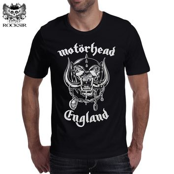Rocksir 2017 new arrive band series men's t shirt the Motorhead classic logo print smmmer cool streetwear high quality men's top