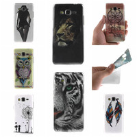 For Samsung Galaxy Grand Prime G530 G530H Case Owl tiger Lion sexy lady Painting Ultra thin TPU IMD Silicone Mobile Phone Covers