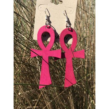 Ankh large hook earrings