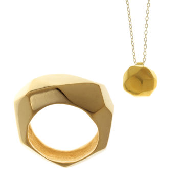 Facet - Ring & Necklace