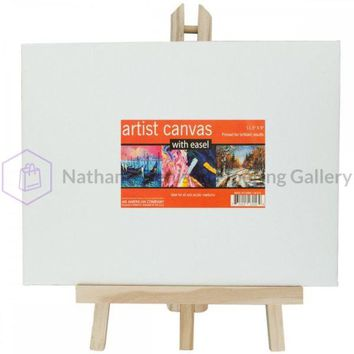 Small Artist Canvas With Wooden Easel Set OL574