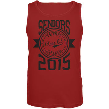 Graduation - Seniors 2015 Red Adult Tank Top