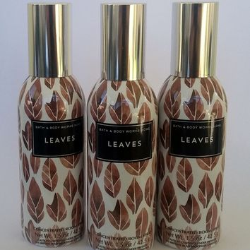 3 Bath & Body Works LEAVES Room Spray 1.5 oz