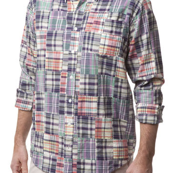 Chase LS Shirt Somerset Patch Madras