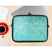 The Turquoise Mosaic Tiled Ink-Fuzed NeoPrene MacBook Laptop Sleeve