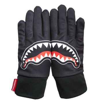 ONETOW Sprayground - Black Shark Mouth Gloves - Black