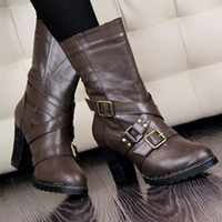 Handsome Wholesale Buckles Brown Ladies Pumps : Wholesaleclothing4u.com