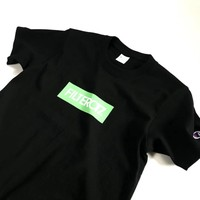 """""""Champion"""" Men Simple Casual  Box Letter Print Embroidery Logo Short Sleeve T-shirt Top Tee"""