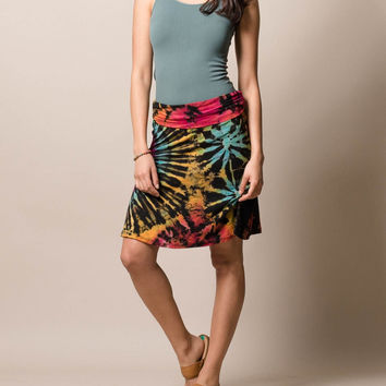 Tie Dye Knee Length Skirt