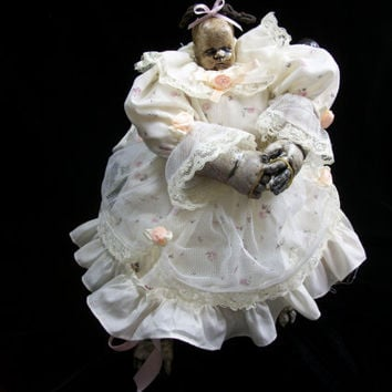 Dark Circus Horror Prop PIN HEAD Baby Doll Halloween Prop Carnival Prize  Freak Sideshow