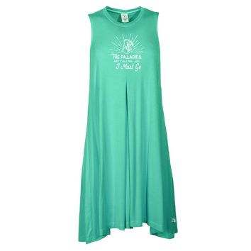 Official NCAA Furman University Paladins  - FURCLNG Women's Sleeveless Spandex Pleat Dress