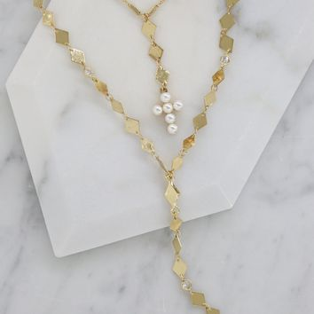 Blessed in Gold Necklace