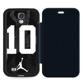 Slam Dunk Jordan Leather Wallet Flip Case Samsung Galaxy S4