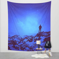 Lost the Moon While Counting Stars III Wall Tapestry by Soaring Anchor Designs