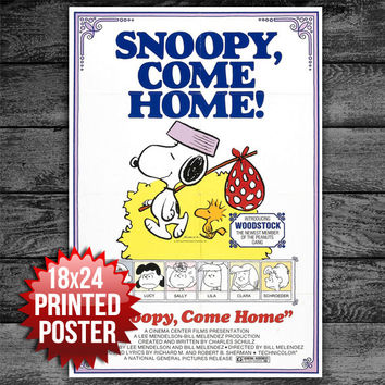 Snoopy Come Home Movie Poster