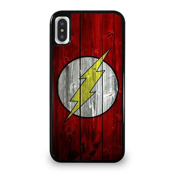 THE FLASH WOODEN iPhone 5/5S/SE 5C 6/6S 7 8 Plus X/XS Max XR Case Cover