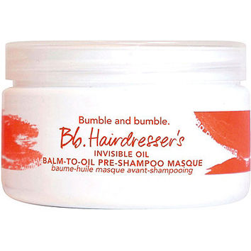 Bb.Hairdresser's Invisible Oil Balm-to-Oil Pre-Shampoo Masque