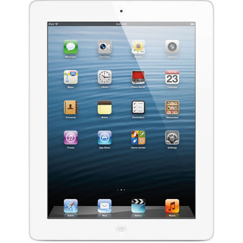 Apple iPad 4th Gen w/ Retina Display 64GB Wi-Fi + 4G LTE AT&T - White MD521LL/A