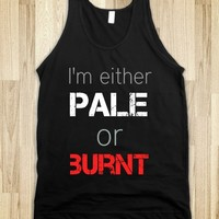 Pale girl probs-Unisex Black Tank