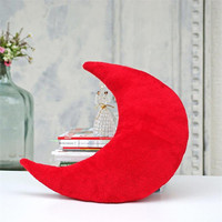 Cozy pillow,Red,moon pillow,decorative pillows,christmas pillows,kids pillows,pillows for kids,kids room decor,soft pillow,Nursery decor
