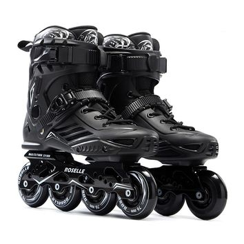 S6 Inline Skates Professional Slalom Adult Roller Skating Shoes Sliding Free Skating Patins Good As SEBA Patines Adulto Sneakers