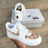 NIKE x GUCCI co-branded trend men and women sports and leisure shoes