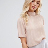 Y.A.S High Neck Blouse at asos.com