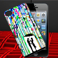 Love Song Romantic in The Rain Paint Design for iPhone 4/4s Case, iPhone 5 Case, iPhone Case,Accesories