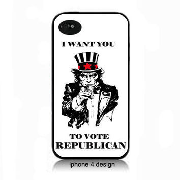 Vote Republican iphone 4  cell phone case, political cover