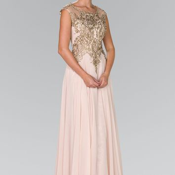 Champagne evening gown  gls 2407
