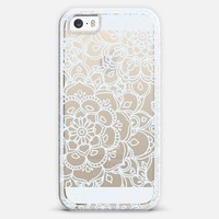 White Lace Doodle iPhone 5s case by Micklyn Le Feuvre | Casetagram