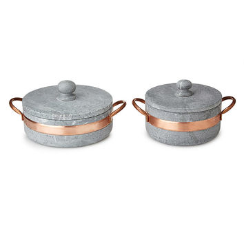 Soapstone Pot with Copper Handle | soapstone dish, oven to table