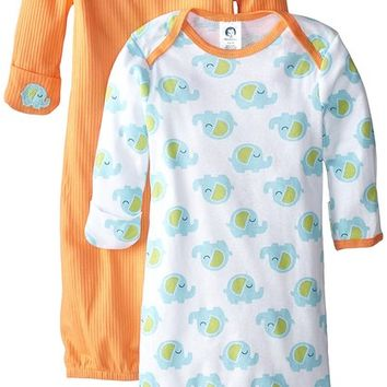 Unisex Baby 2 Pack Gowns