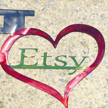 I love Etsy Sign