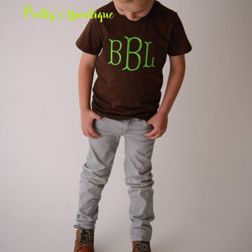 Boys Monogram t-shirt or bodysuit --Boys  Monogrammed shirt, children's shirt, shirts for kids, personalized gifts, custom shirt