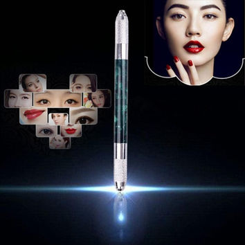 New Designer 13cm Double Dual Manual Tattoo Machine Permanent Eyebrow Embroidery Pen Perfect for Professional Salon Anne