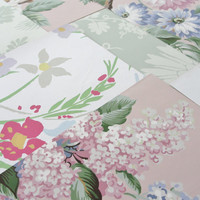 Vintage Wallpaper Sheets Collage Scrapbooking Cardmaking Supplies Assorted Pink Green and White Decorative Paper Pack