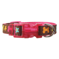 Top Paw Chloe Collection Dog Collar - Pink