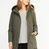 Hooded Utility Parka for Women |old-navy