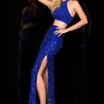 Scala Two Piece Sequins Dress 25406L