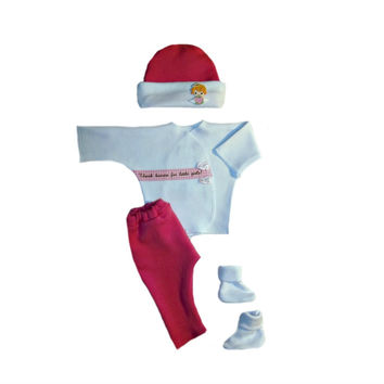 Baby Girls' Happy Feet Clothing Outfit