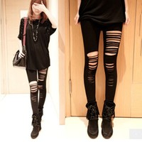 Hole Irregular Cotton legging fashion Stitching Embroidery Bundled Hollow Lace Black Leggings for Wo  sell